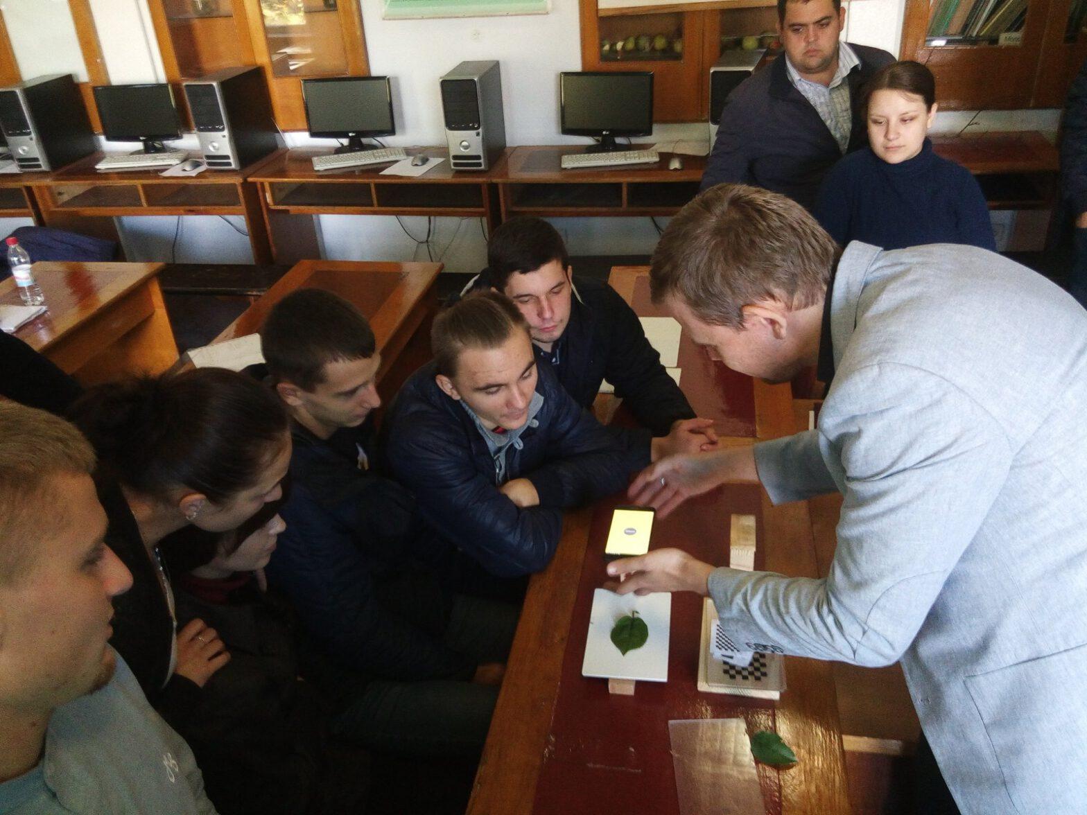 During the leaf area workshop in Uman